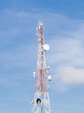 Repeater stations or Telecommunications tower in a day of clear Stock Photography