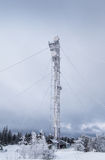Repeater tower frozen winter Royalty Free Stock Photo