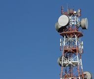 Repeaters antennas for mobile communication and television signa Stock Images
