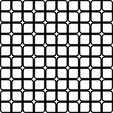 Repeating abstract black and white grid pattern - halftone vector background design. From rounded squares Royalty Free Stock Photography