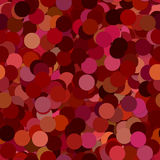 Repeating abstract dot pattern background - vector illustration from circles in maroon tones with shadow effect Stock Images