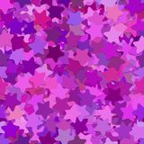 Repeating abstract geometric star pattern background - vector illustration from rounded pentagram stars in purple tones Stock Image