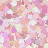 Repeating abstract geometrical square background pattern - vector graphic design from pink squares Stock Image