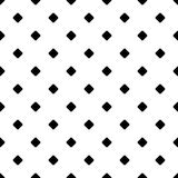 Repeating abstract monochrome square pattern - halftone vector background from diagonal rounded squares Stock Photos