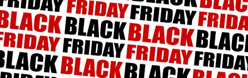 Repeating black friday text background. Vector pattern. Stock Photography