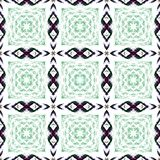 Repeating black and green squares Royalty Free Stock Images