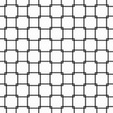 Repeating black and white grid pattern - halftone vector background design from rounded squares Royalty Free Stock Photo