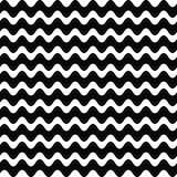 Repeating black and white wave pattern Royalty Free Stock Photos