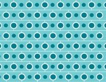 Repeating brick and circle pattern Royalty Free Stock Image