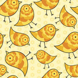Repeating Chick Background. Yellow and Orange Seamless Repeating Chick Background Royalty Free Stock Photography