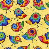 Repeating Chick Background. Colorful Seamless Repeating Chick Background Stock Image