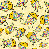 Repeating Chick Background. Colorful Seamless Repeating Chick Background Royalty Free Stock Photography