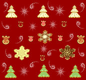 Repeating Christmas background  illustration Royalty Free Stock Photos