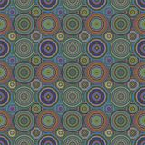 Repeating circle mosaic pattern - vector background Stock Images