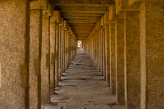 Repeating Columns Long Covered Walkway Hampi Royalty Free Stock Images