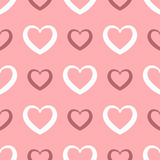 Repeating the contours of the heart. Seamless pattern. Royalty Free Stock Photo