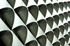 Repeating design on a modern office building Royalty Free Stock Photos