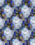 Repeating faces Royalty Free Stock Photography