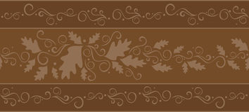 Repeating fall banner. A banner in shades of chocolate brown that can be used horizontally or vertically and can be repeated seamlessly for infinite length or stock illustration