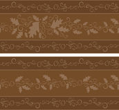 Repeating fall banner. A banner in shades of chocolate brown that can be used horizontally or vertically and can be repeated seamlessly for infinite length or vector illustration