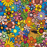 Repeating floral background. Vivid, colorful, repeating floral background Royalty Free Stock Photos