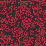Repeating  floral and feather pattern Royalty Free Stock Images