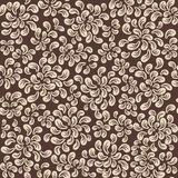 Repeating  floral and feather pattern Stock Images