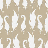 Repeating floral and feather pattern. Seamless texture. Stock Images