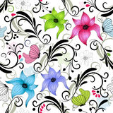 Repeating floral pattern Stock Images