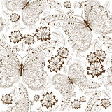 Repeating floral vintage pattern Stock Photos