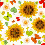 Repeating floral vivid pattern Royalty Free Stock Photography