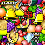 Repeating Fruit Machine Background Royalty Free Stock Photos