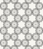 Repeating geometric background with structure of hexagons. Vector seamless pattern. Stock Photo