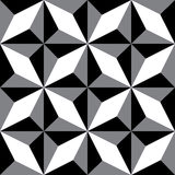 Repeating geometric patterns. Black & White decorative texture. Royalty Free Stock Images