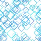 Repeating geometric square background pattern - vector graphic design from random diagonal squares with opacity effect. Repeating light blue geometric square royalty free illustration