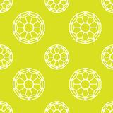 Repeating geometric tiles with lace. Vector seamless pattern. Modern stylish texture. Repeating geometric tiles with dotted rhombus Royalty Free Stock Photography