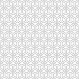 Repeating geometric tiles with rhombus. Royalty Free Stock Image