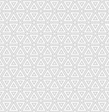 Repeating geometric tiles with striped triangles. Royalty Free Stock Photography