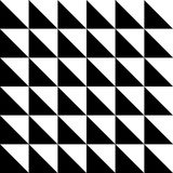 Repeating geometric tiles with triangles. Black & White decorative texture. Stock Image