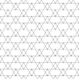 Repeating geometric tiles with triangles. Vector Stock Photos