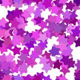 Repeating geometrical star pattern background - vector design from rounded pentagram stars in purple tones Stock Photos