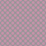 Repeating geometrical stylized snowflake pattern wallpaper Stock Images