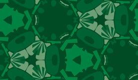 Repeating Green Wallpaper Pattern Royalty Free Stock Image
