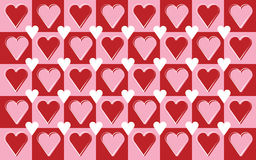 Repeating hearts pattern Royalty Free Stock Photo
