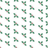 Repeating Holly Christmas Pattern Stock Image