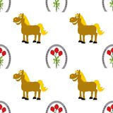 Seamless repeating Kentucky Derby pattern stock photos