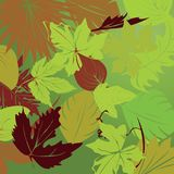 Repeating leaf background Stock Photos