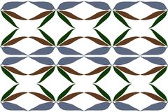 Repeating leaves pattern, blue grey brown green leaf  Stock Photography