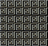 Repeating maze like design metal tube Royalty Free Stock Photo