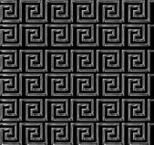 Repeating maze like design scratchy silver Stock Photos